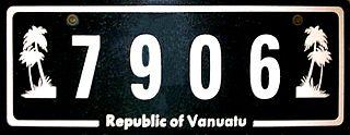 Vehicle registration plates of Vanuatu Vanuatu vehicle license plates