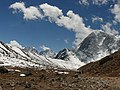 Khumbu Glacier looking back Thamserku, Kangtega.jpg