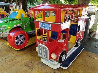 Kiddie ride - A bus kiddie ride in Marbella.