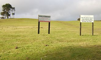 Curragh - The Curragh with warning signs