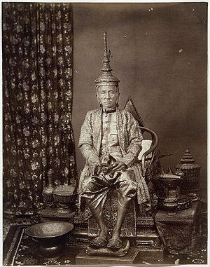 Mongkut - King Mongkut wearing the royal regalia 1851.