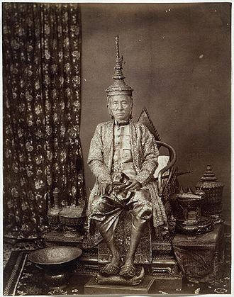 Mongkut - King Mongkut wearing the royal regalia 1851