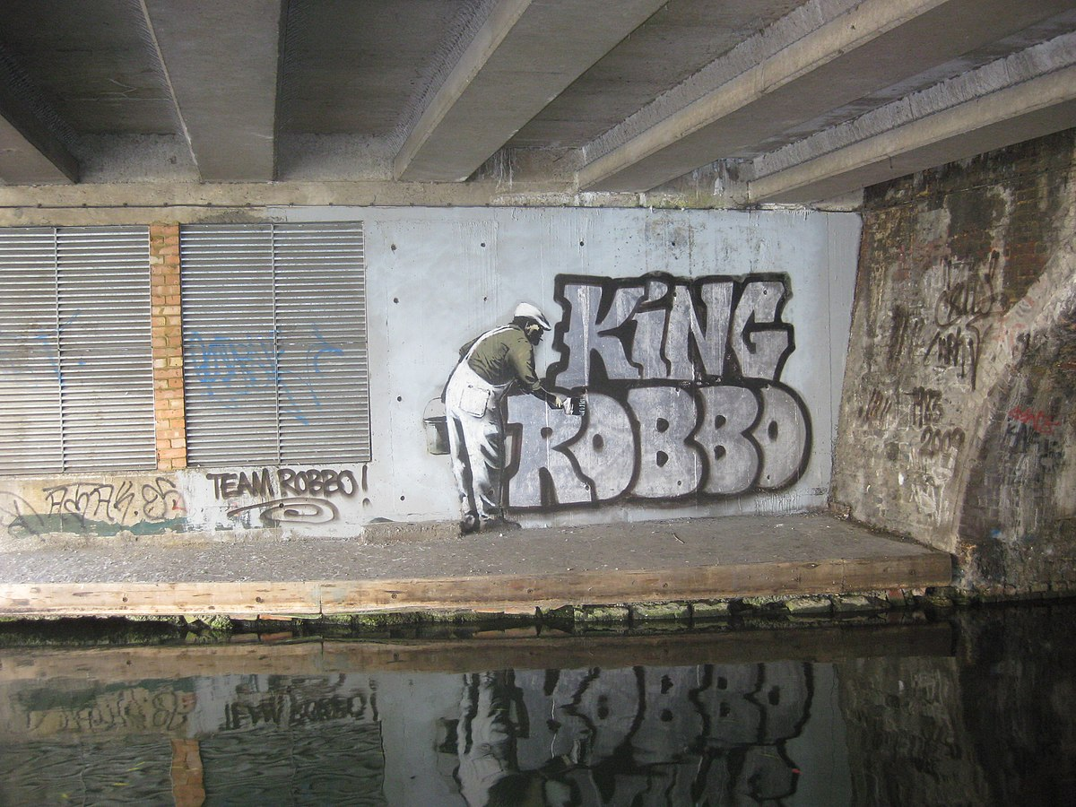 King robbo wikipedia for Banksy mural painted over