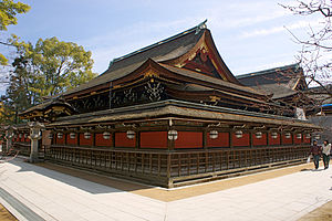 Kitano Tenmangū - The honden, or main building.