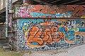 Klagenfurt Tarviser Strasse Eisenbahnbrueckenpfeiler Graffiti 19012016 0233.jpg