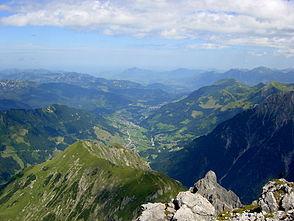 The Kleinwalsertal seen from the summit of the Widderstein