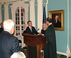 Douglas Kmiec - Kmiec being sworn into office as United States Ambassador to Malta by Justice Samuel Alito