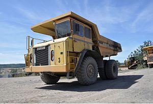 Euclid Trucks - Euclid truck at a quarry in Poland (2013)