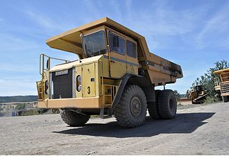 Euclid Trucks - Euclid truck at a quarry in Poland (2013)