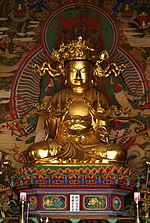 Korea-Joseon Dynasty-Gilt-bronze seated Avalokitesvara at Beopjusa Temple-01.jpg