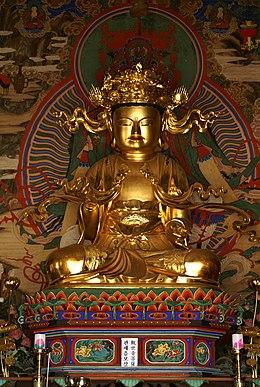 Korea-Joseon Dynasty-Gilt-bronze seated Avalokitesvara at Beopjusa Temple-01