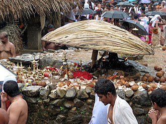 Daksha yajna - Ammarakkallu-The spot where Sati immolated herself, Kottiyoor.