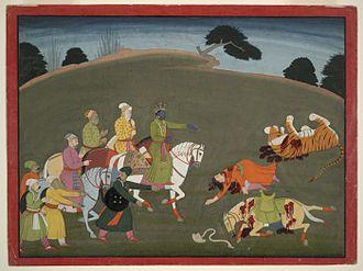 Syamantaka - Krishna on horseback