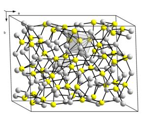 Copper(I) sulfide - Image: Kristallstruktur Chalkosin