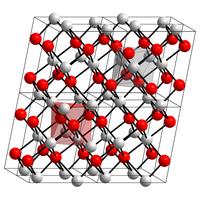 Kristallstruktur von Kupfer(II)-oxid