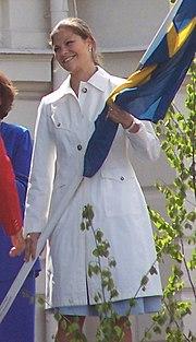 Kronprinsessan Viktoria på nationaldagsfirandet i Sundsvall 2006