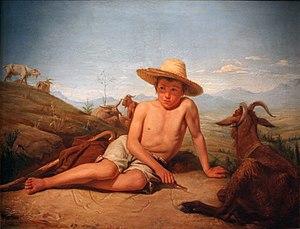Léon Bonnat - Image: Léon Bonnat Giotto gardant les chèvres