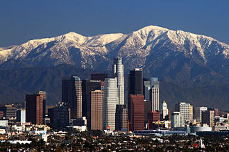 Los Angeles - Image: LA Skyline Mountains 2