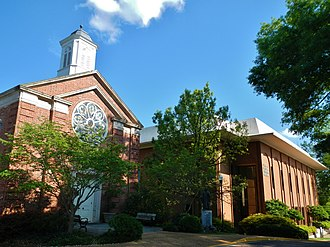 LaGrange College - The Chapel (left) and the Cason J. Callaway Science Building (right).