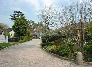 Los Cerritos, Long Beach, California - La Linda Drive looking North East from the entrance.