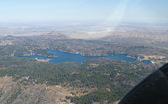 An aerial view of Lake Arrowhead taken from the south.