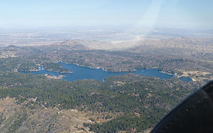 Lake Arrowhead Reservoir - Image: Lake Arrowhead Aerial View