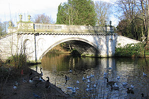 Stamford Brook - Lake in Chiswick House grounds, formerly one of the westernmost lower channels of the brook system