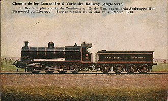 Lancashire and Yorkshire Railway - LYR 0-8-0 Tender Engine on a period post card