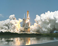 The launch of STS-100