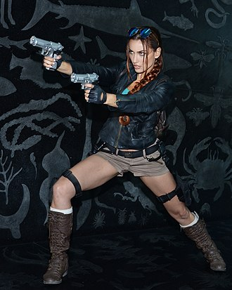 Cosplay - Cosplay of Lara Croft by Tatiana DeKhtyar at the E3 Expo in Los Angeles 2016
