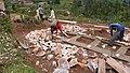 Laying of adobe blocks - Mise en place des briques de terre (2708010574).jpg
