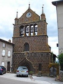 Le Brignon (Haute-Loire, Fr) Clocher-mur de l'église.JPG