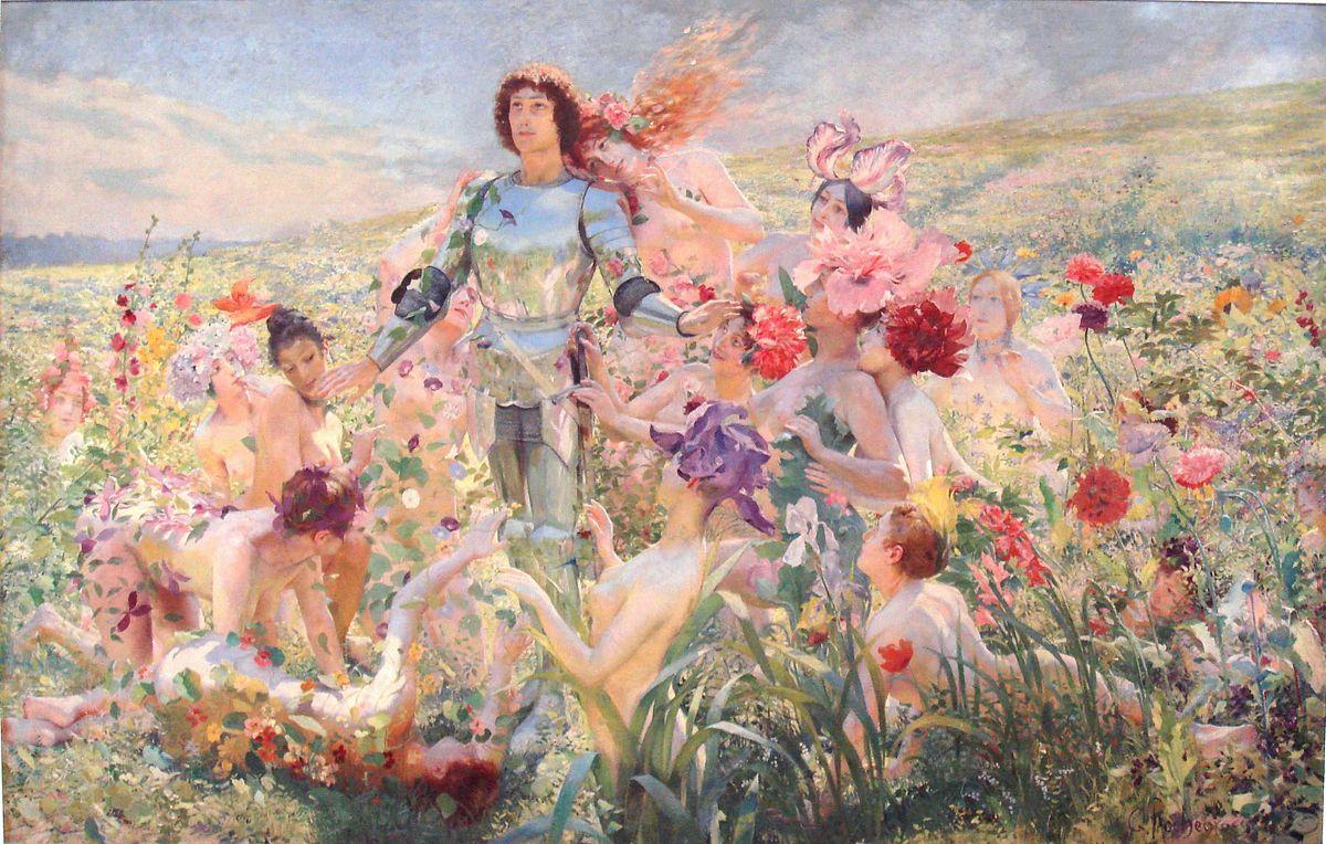 Le Chevalier aux fleurs — Wikipédia