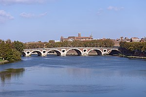 Garonne am Pont Neuf in Toulouse