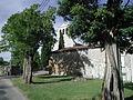 Le fronton de l'église de Brassac - Brassac (Ariège).JPG