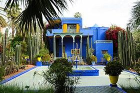 villa atelier dartiste muse berbre bleu majorelle du jardin majorelle marrakech - Jardin Marrakech