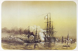 French ship Friedland (1840) - Image: Lebreton engraving 05
