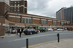 Leeds railway station -  The Western Entrance into the railway station.