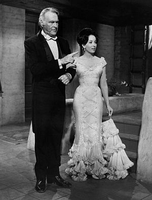 Linda Cristal -  Leif Erickson and Cristal in The High Chaparral