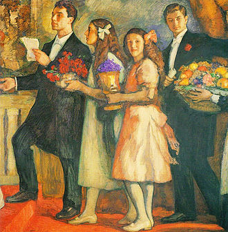 Lydia Pasternak Slater - Boris, Lydia, Josephine, and Alexander Pasternak in 1914