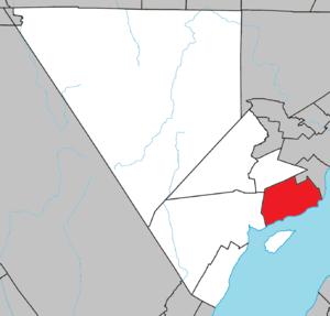Les Éboulements - Image: Les Éboulements Quebec location diagram
