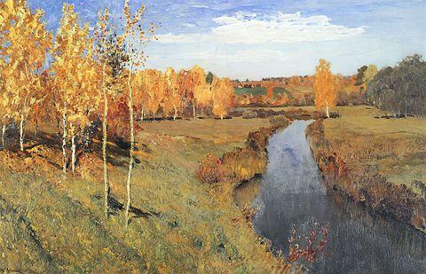 обои на рабочий стол картины известных художников осень № 247533 бесплатно
