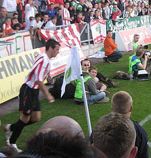 Liam Miller - Miller playing against his hometown team Cork City in Sunderland's pre-season tour of Ireland, July 2007