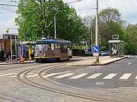 Liberec, Žitavská, Nádraží, tramvaj 66 na lince 3.jpg
