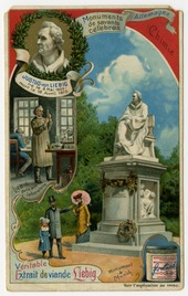 Memorial tradecard commemorating Justus von Liebig, from Liebig's Extract of Meat Company (Source: Wikimedia)