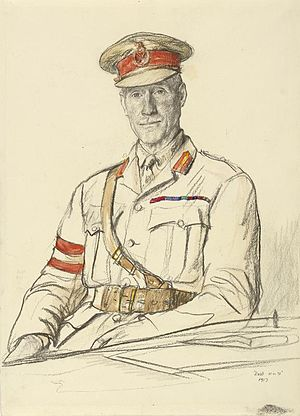 Charles Woollcombe - 1917 portrait by Francis Dodd