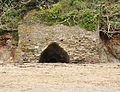 Lime kiln on Mothecombe Beach.jpg