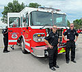 Lincoln Fire & Rescue Department Engine No. 2 (with firefighters), Lincoln, Nebraska, USA.jpg