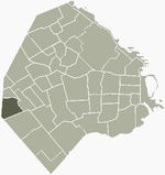 Location of Liniers within Buenos Aires
