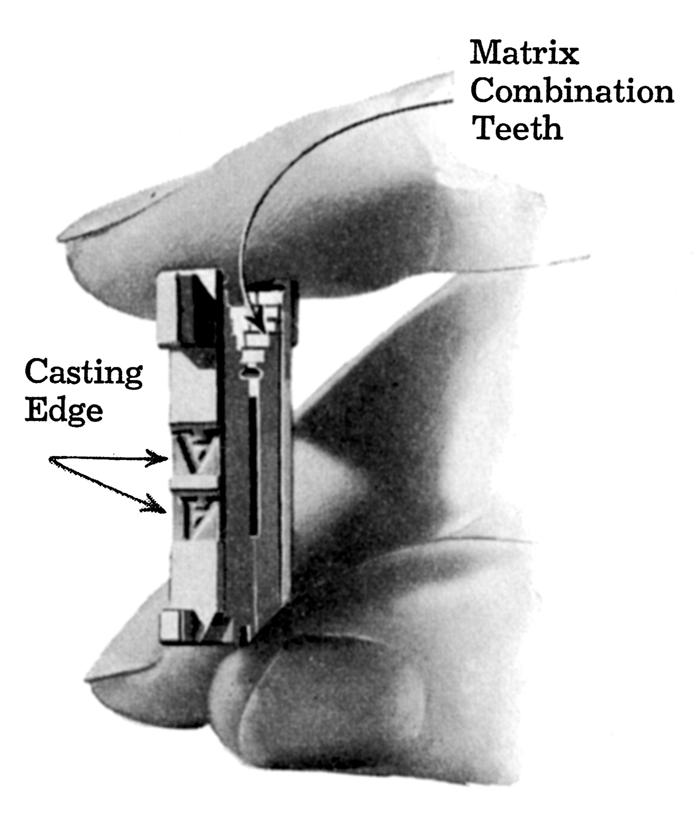 Linotype matrix